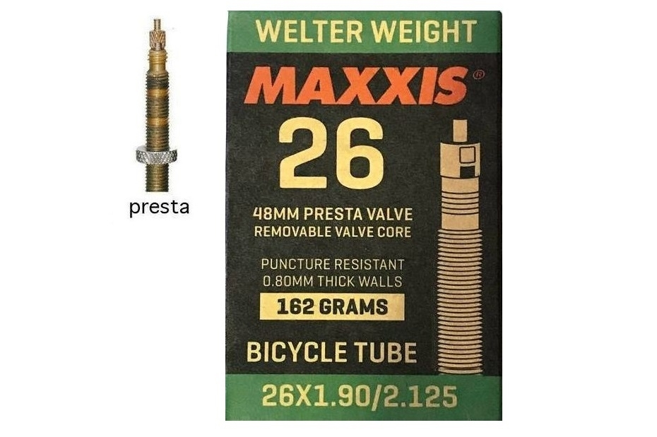 Фото на  Камера 26×1.90/2.125 FV (Presta) 48mm MAXXIS Welter Weight